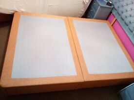 Double divan bed with 2 drawer Orange colour