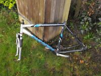 Saracen Traverse Mountain bike Frame and suntour forks and other cycle parts all good project b