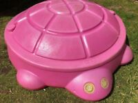 LITTLE TIKES PINK TURTLE SAND PIT WITH LID, COLLECTION CRIEFF PH7