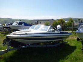 Glastron Spirit 155 with engine and trailer