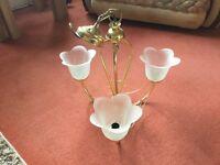 3 light brass pendant for ceiling