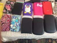 MOST BRAND NEW AND USED PHONE COVERS BLACKBERRY/I PHONE AND SAMSUNG AND OTHER BRANDS