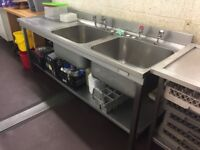 Stainless Steel Double Sink Unit - Ref 9344