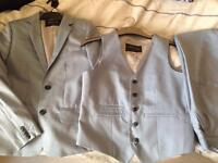Boys Light Blue Suit Size 12 years old