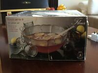 Punch Bowl Glass Set of 8