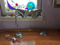 New - a pair of desk lamps