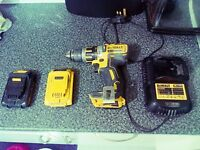 Dewalt 18v Brushless XR drill - with two batteries and charger (great condition)