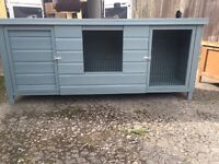 Large brand new hand painted rabbit hutch