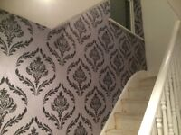 £80 PER FEATURE WALLPAPER FITTING. 24 HOUR CALL OUT SERVICE. FEATURE WALLS. PAINTER AND DECORATOR