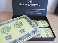 Royal Doulton Table Mat Set