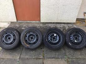 Steel Wheels with Winter Tyres