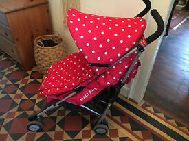 Cath Kidston / Mclaren Red Polka Dot Stroller/Buggy