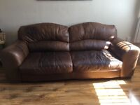 Raw hide Leather two and three seater settees