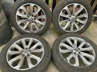 """X4 genuine 20"""" inch Range Rover sport alloys wheels 5x120 Vw t5 t6 transporter load rated"""