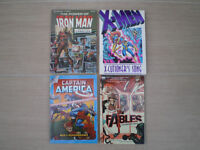 4 * Marvel and DC Comics including Captain America, Iron Man, X-Men and Fables