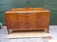 Large Retro / Antique? Sideboard. With Three Storage Cupboards and Two Secret Drawers. Can Deliver.