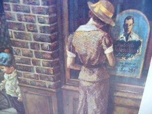 "Vintage, Victorian Street Scene by Lee Dubin ""The News Hawker"" Stratford Kitchener Area image 7"