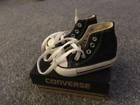 Toddler size 3 black converse brand new