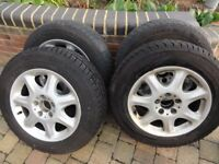 Alloy Wheels & Winter Tyres 205/65 R16 C from a Mercedes