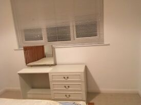 dressing table and bedside drawers