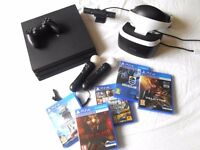 New PS4 Pro with VR Headset and 5 Games