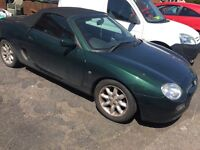 MGF 12 MONTHS MOT RACING GREEN LOW MILLAGE
