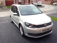 Reliable 7 seater VW Panoramic sun roof, cruise control, economical diesel.