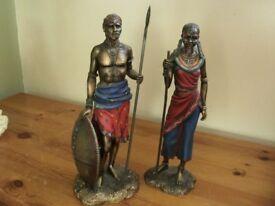 Beautiful pair of african figures