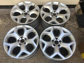 200 genuine BMW X6 alloy wheels and Vw Audi adapters