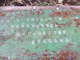 Vintage Manchester metal trunk