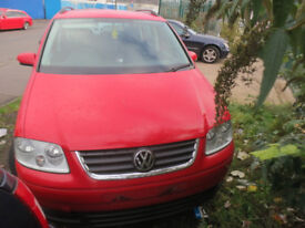 Breaking for Spares VW Touran Red 1.9 TDI 2009