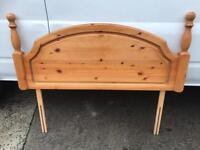 Pine double headboard FREE DELIVERY PLYMOUTH AREA