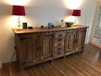 Large Solid Oak Console Table