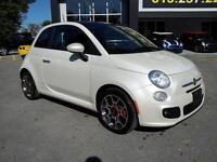2012 Fiat 500 SPORT LEATHER LOADED MOONROOF 5 SPEED MANUAL