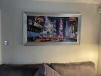 Large framed NYC Times Square picture