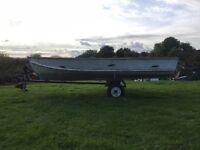 Aluminium boat for sale £175