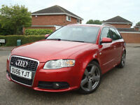 2006 AUDI A4 3.0 TDI S-LINE QUATTRO,AUTOMATIC,ESTATE,LEATHER HEATED SEATS,SAT.NAV,BOSE SOUND SYSTEM