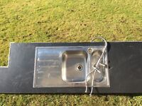 Stainless kitchen 1.5 sink