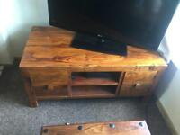 QUICK SALE - OFFERS ACCEPTED - solid wooden tv stand