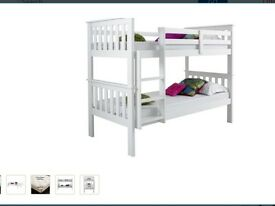 Brand New Atlantis White Pine Wood Bunk Beds