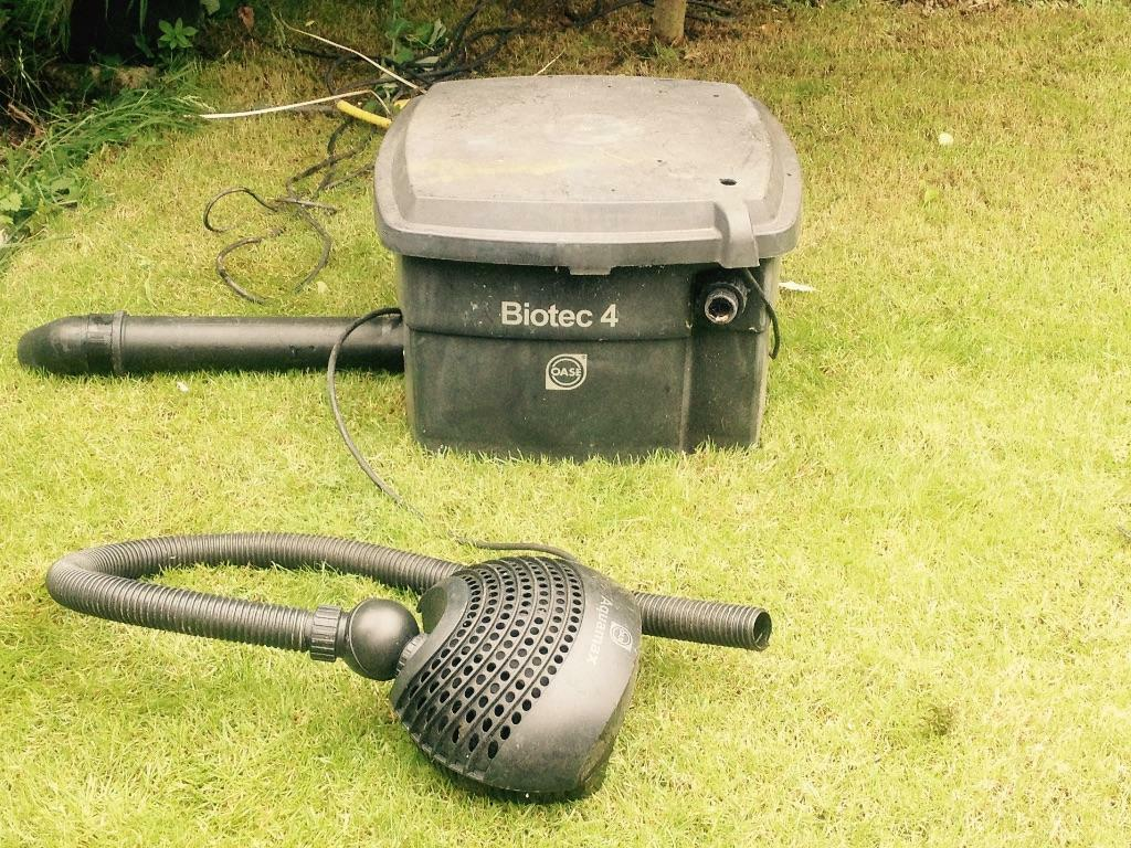 Oase pond pump and biotech 4 filter in dundee gumtree for Used pond filter for sale