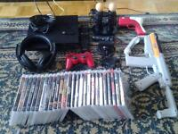 PS3 320g  console with all accessories and 26 games