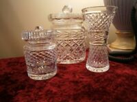 3 PIECES OF WATERFORD CRYSTAL.
