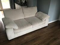 Two Seater Cream Jumbo Cord Sofa