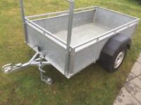 Trailer all steel construction Galvanised sides & floor suit motor bike lawnmower gardening trailor