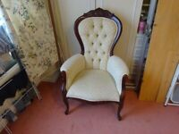 Beautiful Victorian style winged armchair
