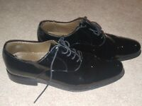 Mens patent M&S Shoes size 9