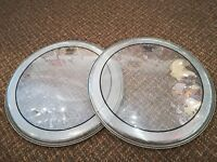 """Remo Pinstripe 14"""" Clear Drum Heads - Only £8 - 1 left"""