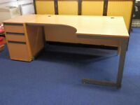 Office desk with 3 tier pedestal.