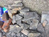 Slate style bricks and Hardcore